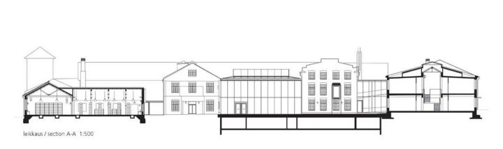 Section plan, Åbo Akademi University Arken Campus