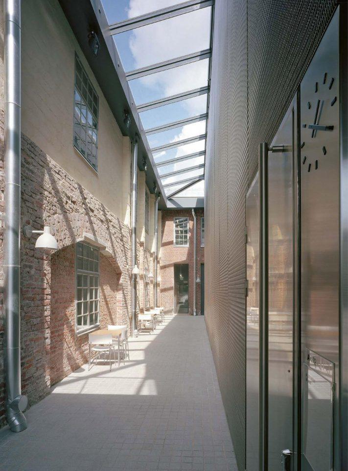 Alley between café and auditorium, Åbo Akademi University Arken Campus
