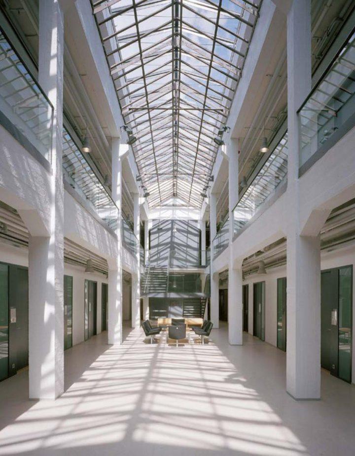 Historical iron roof construction, Åbo Akademi University Arken Campus