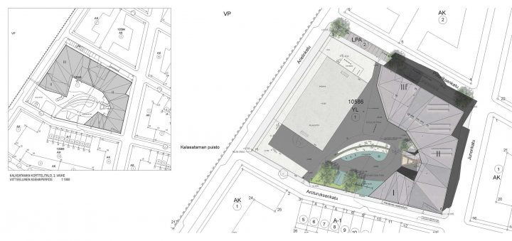 Site plan, Kalasatama School and Daycare Centre