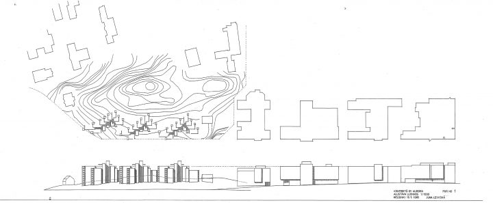 Preliminary sketch, Auroranlinna housing