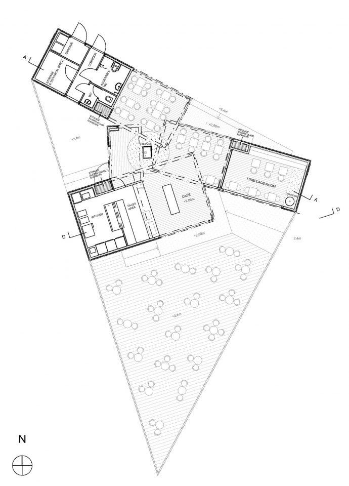 Floor Plan, Café Birgitta