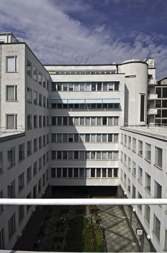 Courtyard façade, Bensow House
