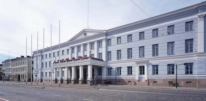 Façade of former Hotel Seurahuone by C. L. Engel, now Helsinki City Hall., Helsinki City Hall