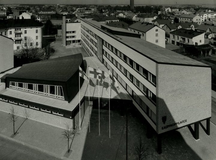 An aerial view, Pori Commercial School