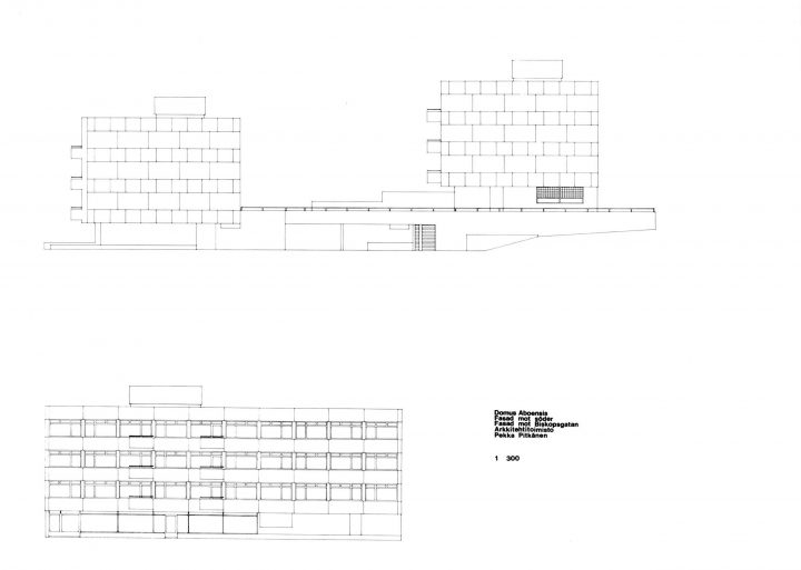 Original drawing , Domus Aboensis Student Union Dormitory