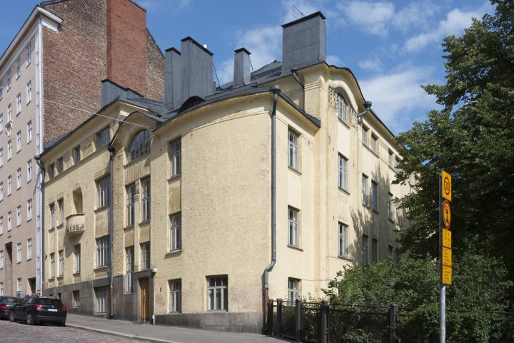 The building photographed from Harjukatu, Ebeneser Kindergarten