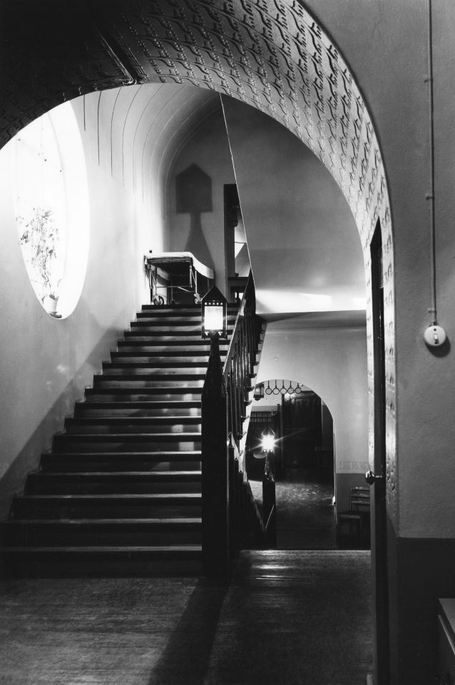 The main staircase photographed in 1968, Eira Hospital
