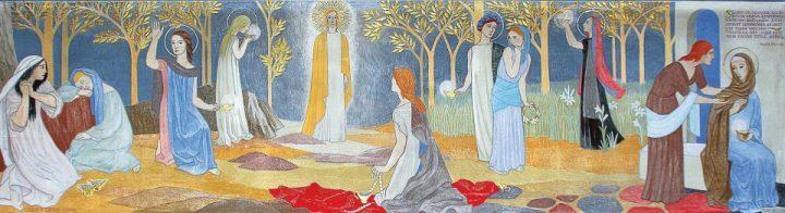 Altarpiece 'Ten Virgins' by Tove Jansson, Teuva Church