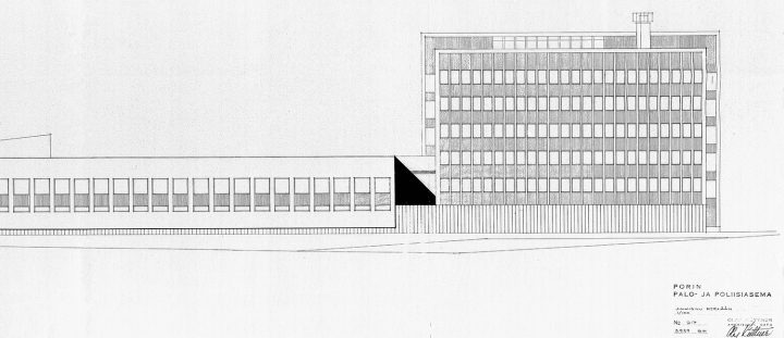 The Southern façade plan, Police Station & Fire Department