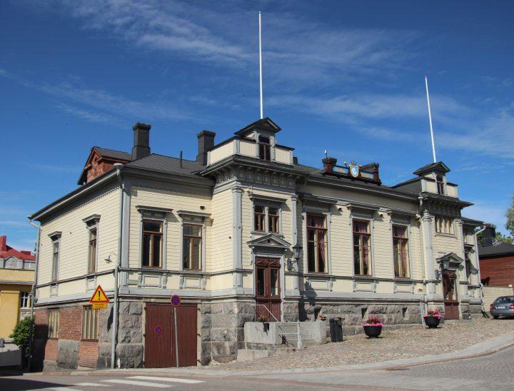 The street façade, Voluntary Fire Brigade House