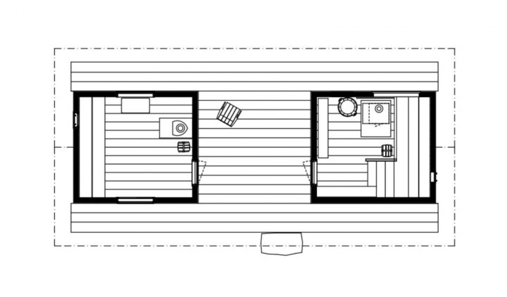Floor plan, Sauna in Fiskars