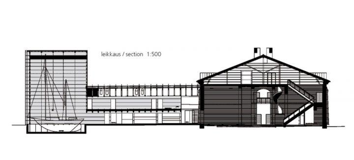 Section plan, Forum Marinum