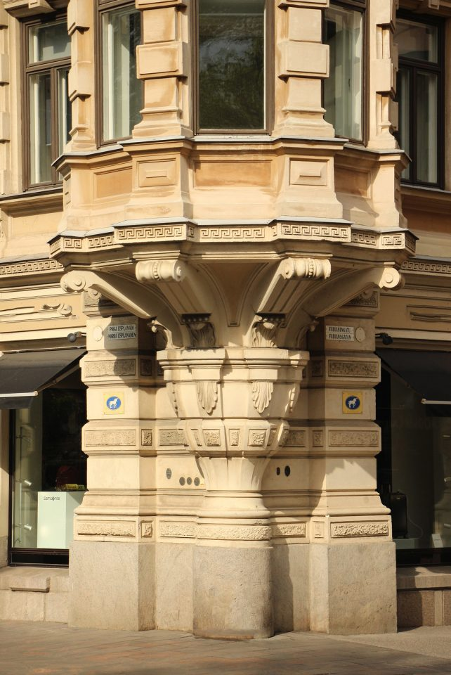 Details of the façade , Grönqvist Building