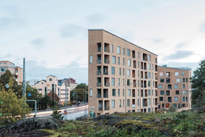View from the south, Gullkronan Senior Housing
