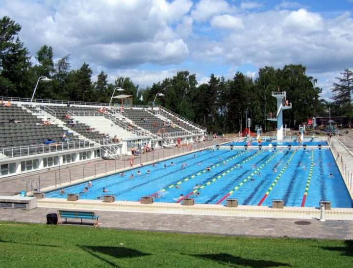 View from the south, Helsinki Swimming Stadium