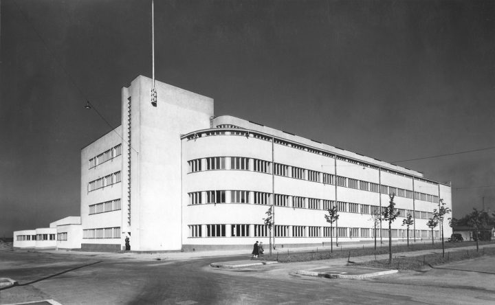 View from east in 1937, Helsinki Motorised Company Barracks