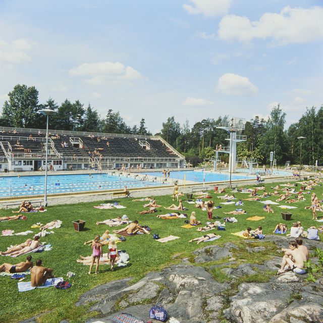 View from the southwest, Helsinki Swimming Stadium