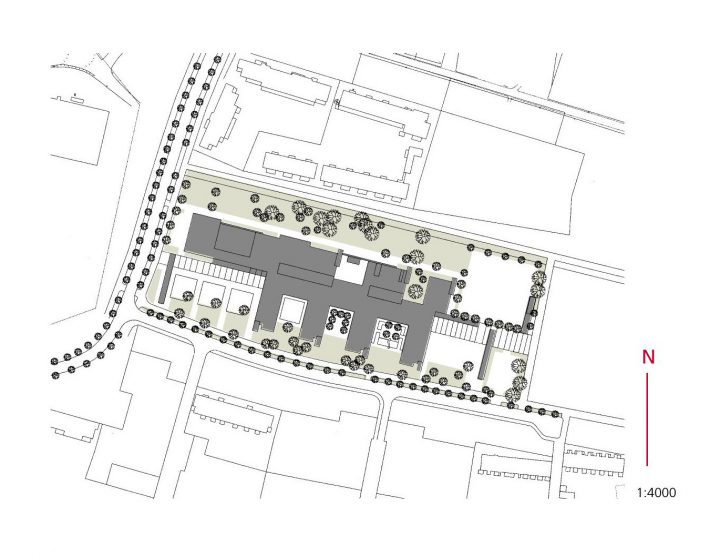 Site plan, Helsinki University Teacher Training School