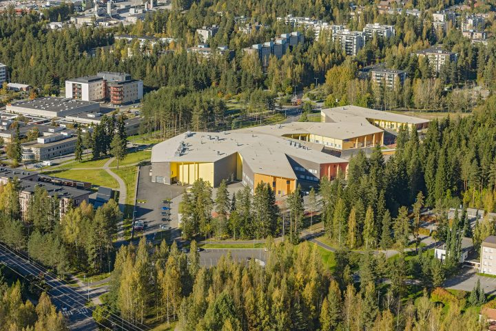 An aerial view, Huhtasuo School Campus
