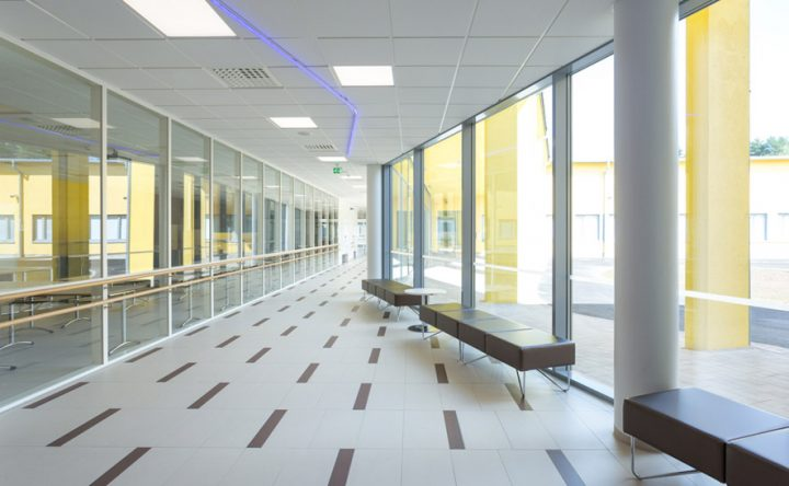 The hallway, Huhtasuo School Campus