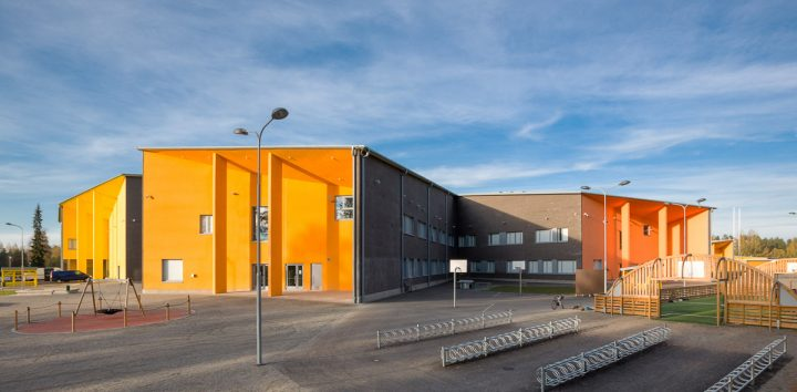 The façade, Huhtasuo School Campus