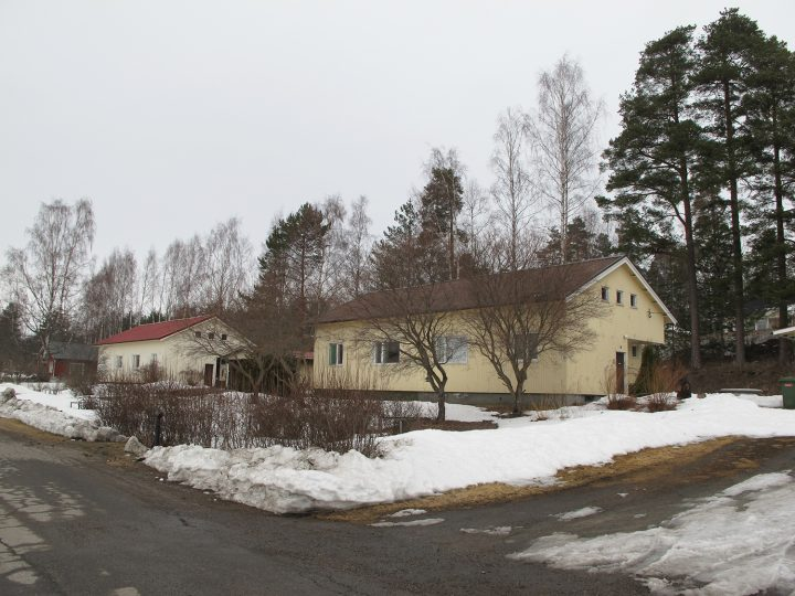Semi-detached houses on Sorvarinkatu street, Savonlinna., Wilhelm Schauman Company houses