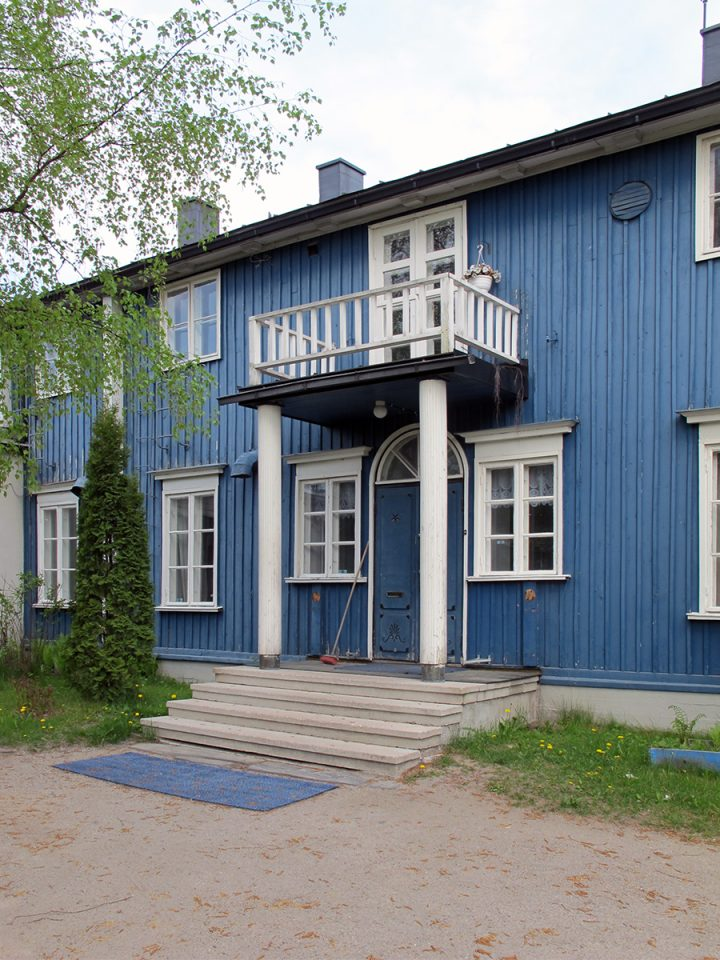 Entrance., Uskela National Guard building