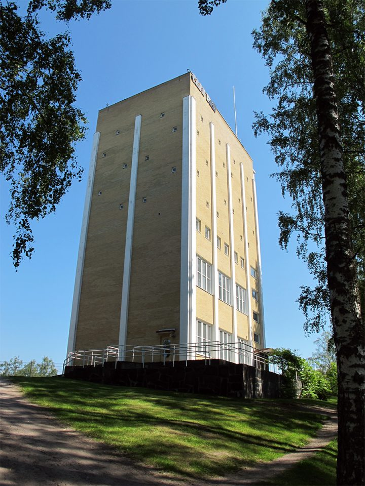 Riihimäki water tower in its current state., Riihimäki water tower