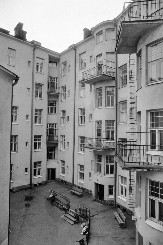 Courtyard photographed in 1979, Ihantola