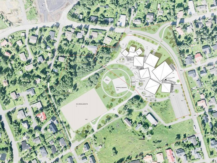 Site plan, Isokylä Community Centre Puhto
