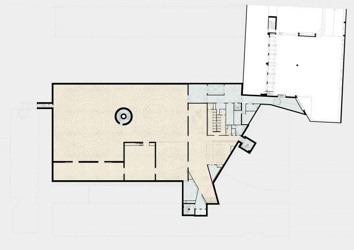 Basement floor plan, Amos Rex Art Museum