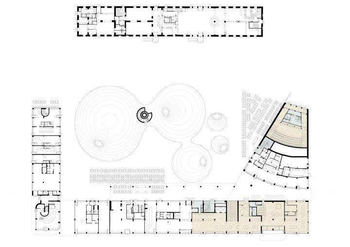 Ground floor plan, Amos Rex Art Museum
