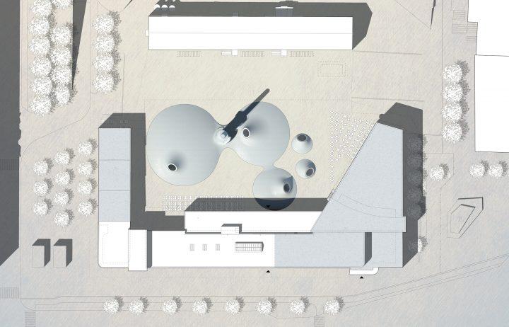 Site plan, Amos Rex Art Museum
