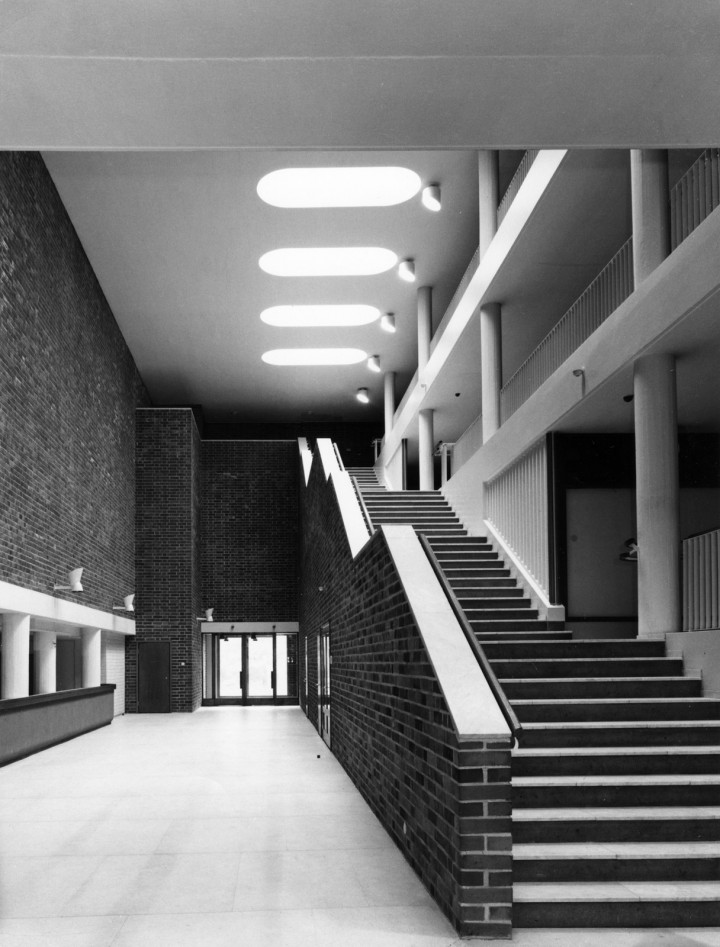 The staircase in the main building, University of Jyväskylä, the Aalto's Campus