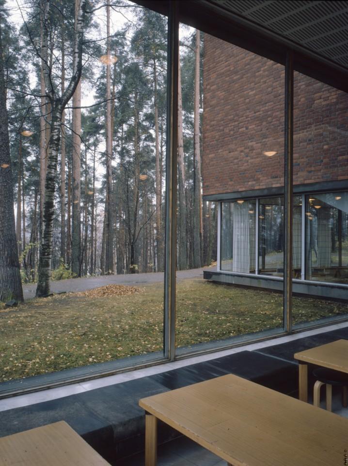 The window walls of the main building, University of Jyväskylä, the Aalto's Campus