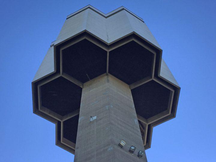 The hexagon distributor reservoir, Kaanaa Water Tower