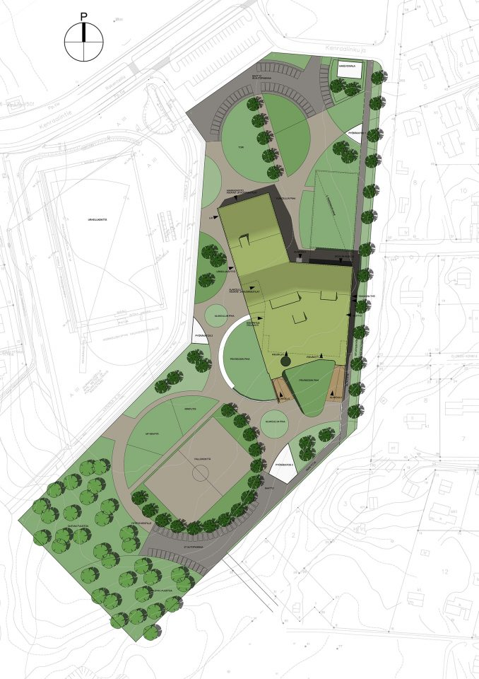 Site plan, Kannisto Community Centre