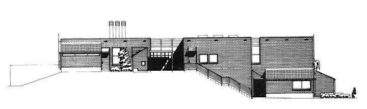 Elevation plan, Karviaistie Daycare Centre and School