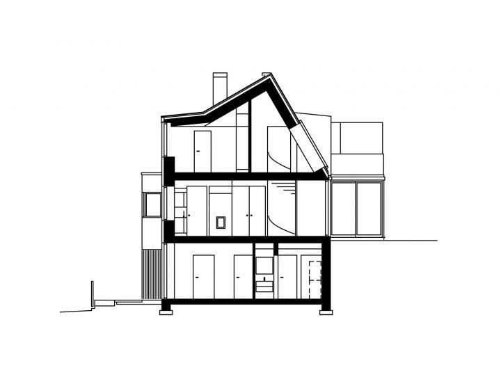 Section, Kellokas Semi-detached House