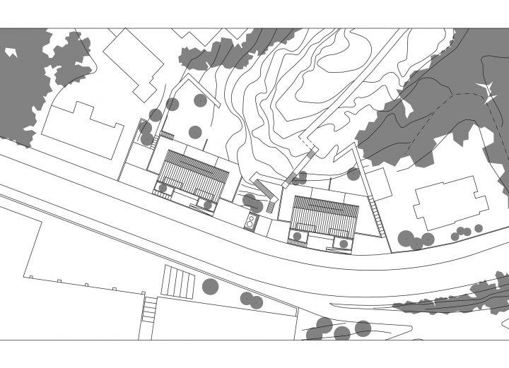 Site plan, Kellokas Semi-detached House