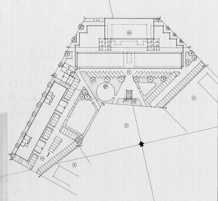 The site plan, Keskuskartano
