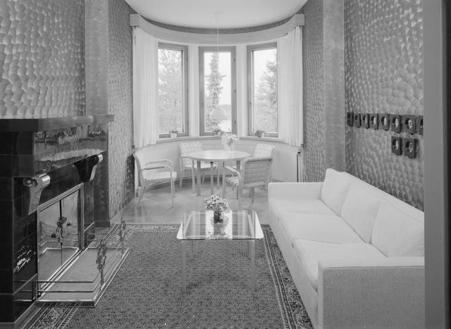 Meeting room with Artek furniture in the 1980s, Kultaranta Summer Residence of the President of Finland