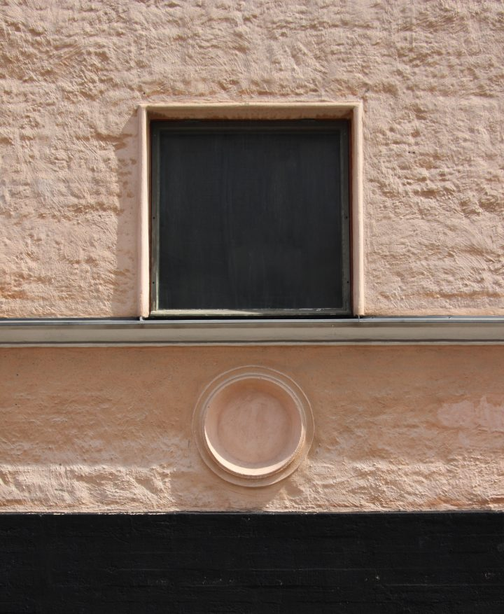 A detail from the main façade, Kunsthalle Helsinki