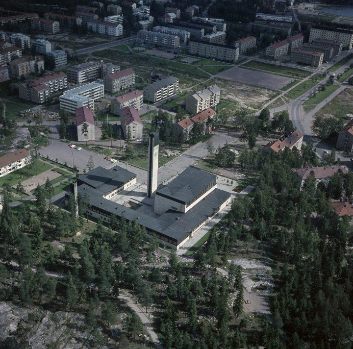 Aerial view from 1964, Lauttasaari Church