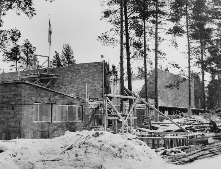 Construction site in 1959, Tapiola Co-educational School