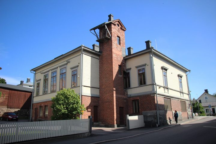 The tower dryer, Porvoo Voluntary Fire Brigade House