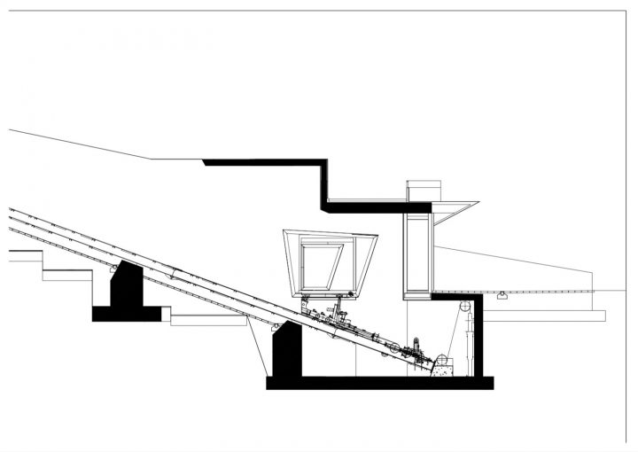 Lower station section plan, Kakola Funicular Stations