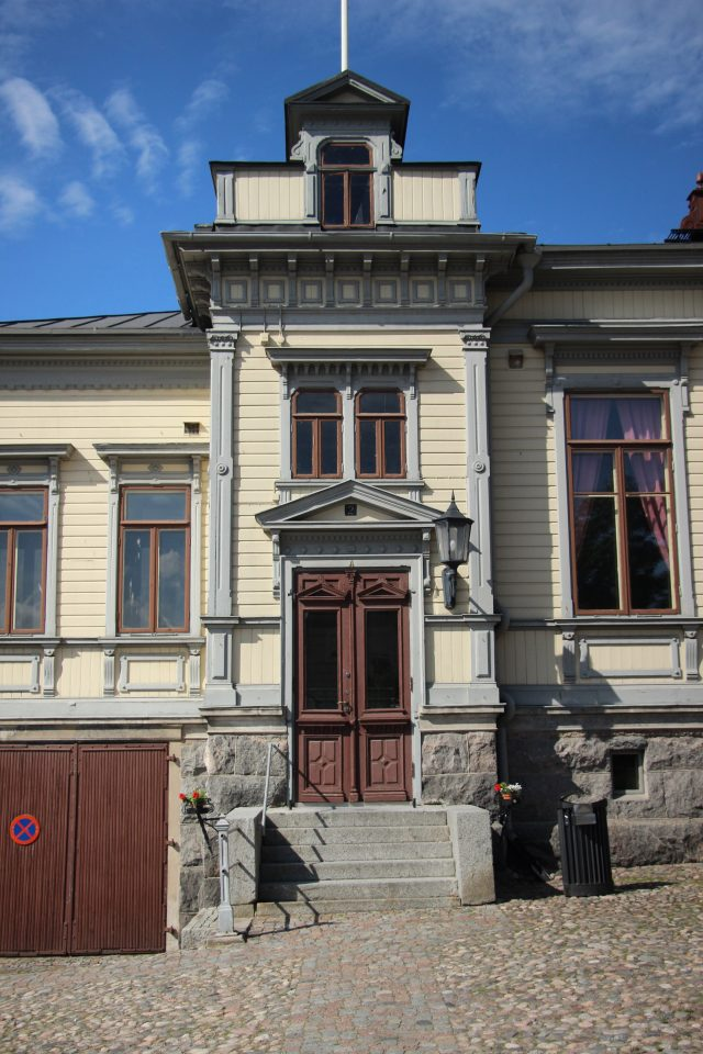 Main entrance, Voluntary Fire Brigade House