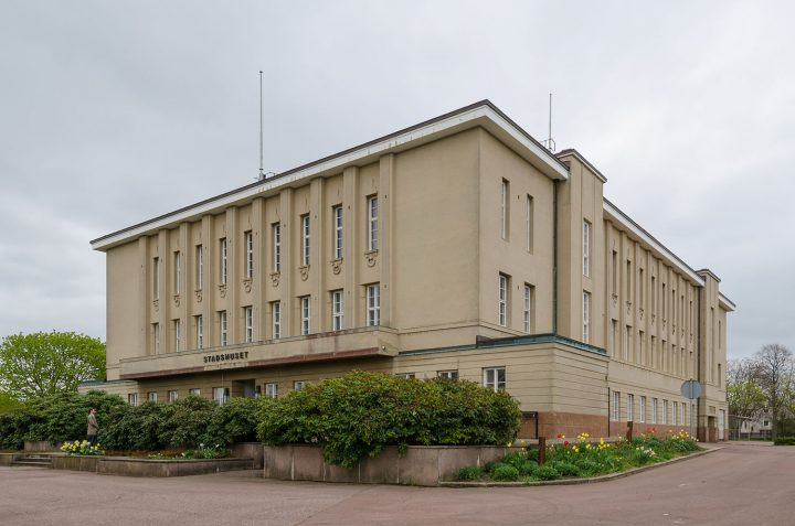 View from the northwest, Mariehamn Town Hall
